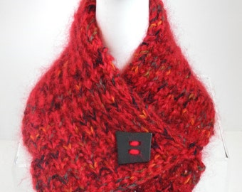 Warm Red Knit Collar