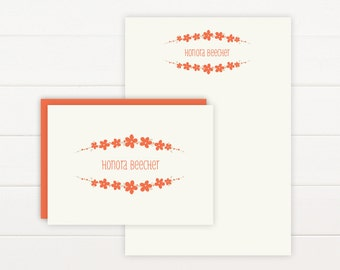 BOUQUET Personalized Stationery + Notepad Set - Personalized Notepad and Personalized Stationary