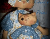 Piper and Mitzie Momma and baby Kitties Instant Download E-Pattern Hafair FAAP
