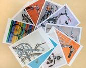 Bicycle Art Postcard Sampler Set