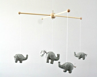 Gray Elephant Safari Wildlife Zoo Animal Baby Nursery Mobile Deccor
