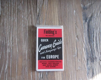 1966-1967 Fieldings Quick Currency Guide & Language Tips For Europe