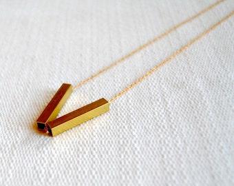 SALE - Rectangular V Necklace - FREE US Shipping