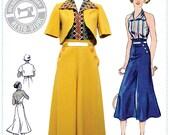 E-Pattern- Chic Ahoy- 30s Slacks, Halter, & Bolero- Size Pack A- Wearing History PDF Sewing Pattern