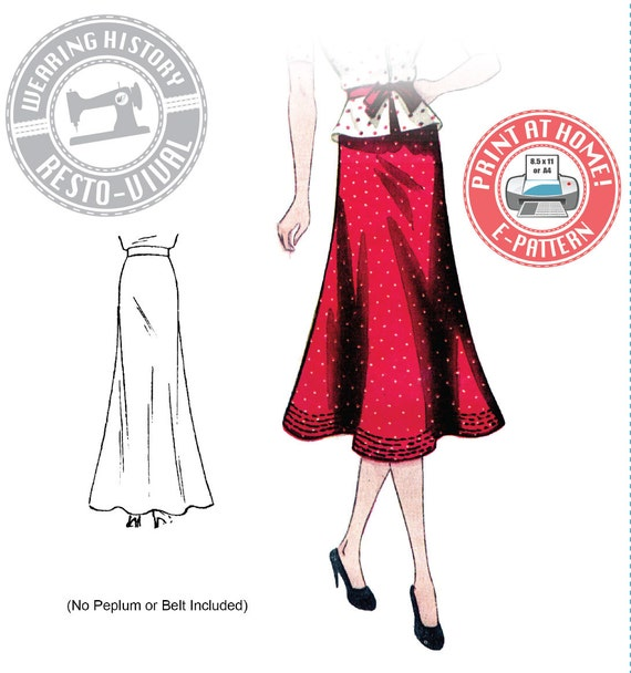 1930s Dresses, Clothing & Patterns Links 1930s Day or Evening Bias Skirt Pattern- Wearing History PDF Sewing Pattern $9.99 AT vintagedancer.com
