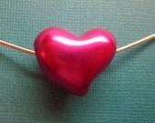 Dark Pink Acrylic Gem Spacer Bead European Charm Sized