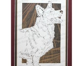 Cardigan Welsh Corgi Papercutting- Handcut Original *FINAL EDITION*