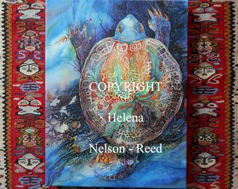 Turtle Mother signed canvas giclee Helena Nelson Reed art