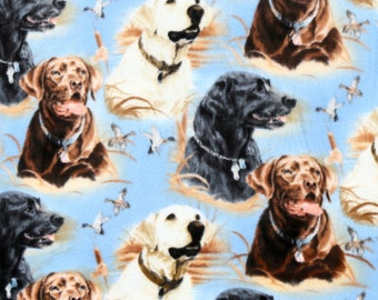 Loyal Retriever Dog Fleece Blanket Hand Tied Pet Baby Lap