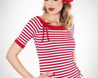 MIA_08 red/white striped sailor Shirt
