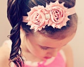 MEDIUM Vintage Pink Headband  6mths to 3yrs