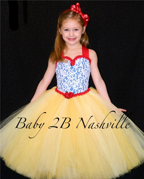 Princess Party Dress Snow White Costume Princess Dress  Birthday Princess Tutu Dress All Sizes Girls