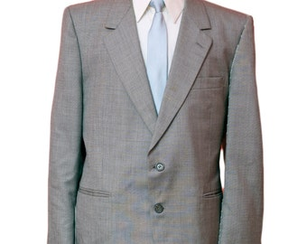 Men's Blazer / Vintage Grey Jacket / Size 42 Medium