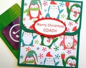 Christmas Gift Card Holder for Coach - Christmas Cards for Coaches - Holiday Card - Coach Thank You Card