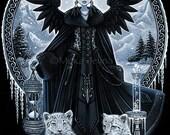 Gothic Snow Leopard Queen Ice Fairy Wynter 4X6 PRINT