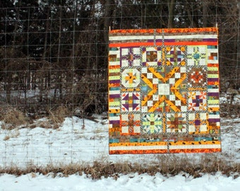 Heirloom Lap Quilt,Throw Blanket, a Bold Sampler