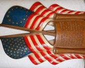 Vintage US Sexton Pledge of Allegiance American Flag Metal Wall Plaque Hanging