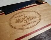 Personalized Cutting Board - Gift - Wedding, Anniversary, Custom - Monogrammed - Black Walnut - FREE ENGRAVING