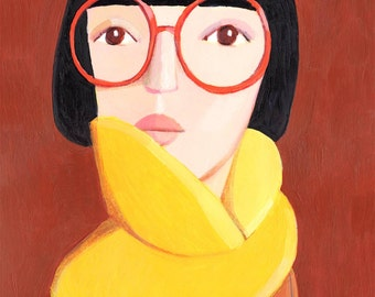 Portrait with glasses     Original Painting