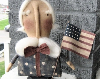 Flag Sam EPATTERN...primitive country uncle sam cloth doll craft digital download sewing pattern...PDF...1.99