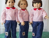 American Girl Doll Clothes Shirt and Jeans Suit fits 18 inch doll