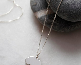 Sterling Silver Africa + Chain