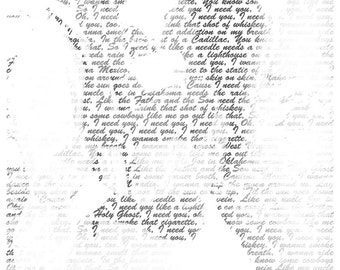 gift ideas for women Wedding Gift First Dance Lyrics/ Custom Canvas / Your Wedding Photo silhouette with your Lyrics/ Vows/ Love Story
