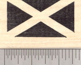 Flag of Scotland Rubber Stamp, Saint Andrew's Cross, Saltire D25002 Wood Mounted