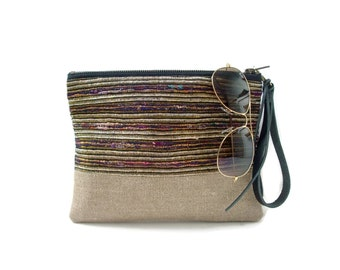 Clutch Bag, Summer Clutch Purse, Woven Clutch