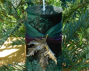 Winter Cedar and Frankincense Pillar Candles