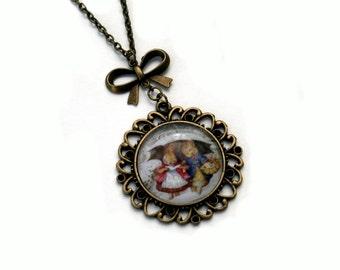 Beatrix Potter Peter Rabbit Cameo Necklace Illustration Pendant