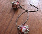 Multicolor Glass Earrings Murano