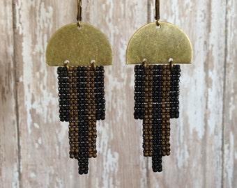Modern Deco Beaded Earrings