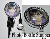 Custom wine bottle stopper your  monograms photos logos text wedding groomsmen conventions birthdays babies memorials pets wine 35mm