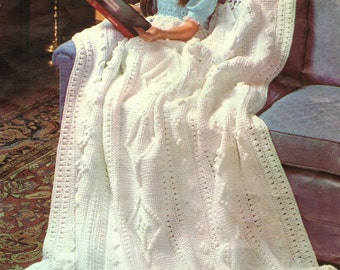 Afghan Crochet Pattern, Crochet Afghan Pattern, Crochet Blanket Pattern, Tunisian Crochet Pattern,  PDF INSTANT Download Pattern (1035)