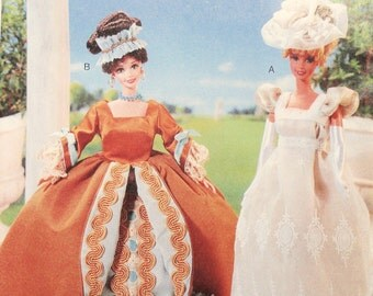"Historical 11 1/2"" Fashion Doll Sewing Pattern Retro Victorian Clothes Vogue 9867 Shipping to USA INCLUDED"