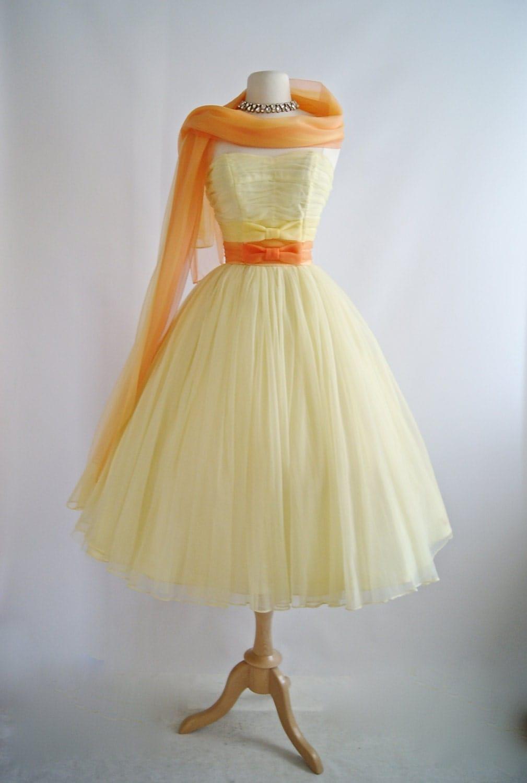 Vintage 1950s Emma Domb Prom Dress 50s Prom Dress 1950s
