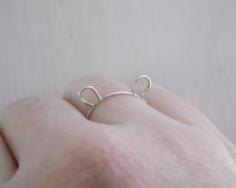 Bear Ears Ring Bear Ring Sterling Silver