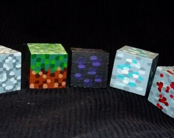 Minecraft Painted Wood Cube