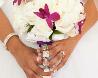 Four Photo Bouquet Charm