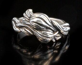 Garlic Ring Garlic Jewelry Vampire Jewelry Vampire Ring Garlic Braid Vegetable Art Clove Of Garlic
