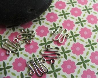 6 Zig Zag Sterling Silver Filled Links - 20 gauge connectors