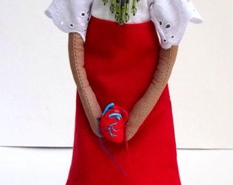 Frida Kahlo Cloth Art Doll