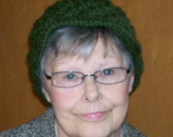 Woman's Hat Newsboy Style - Green