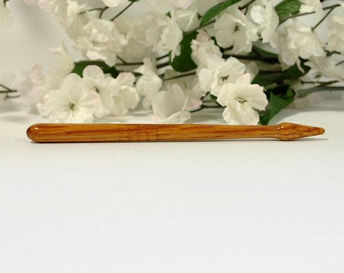 Oak Hair Pin Small Hairstick 5 inch Hair Stick Oak Hair Bun Pin - SM10