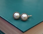 """Pearly Earrings - Pink, Blue or White """"pearl""""  You choose style and color. Clip-on or Stud"""