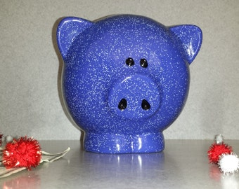 Ceramic blue pig bank great Christmas gift (better than getting socks)  P17
