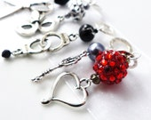 50 Shades of Love - Five Handmade Stitch Markers - 6.5mm (10.5 US) - Limited Edition