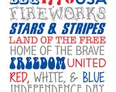 July 4th Subway Art Printable