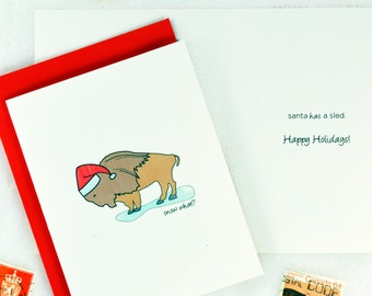 A Buffalo Christmas with Buffalo Cards for the Holidays, Snow What - Set of 6